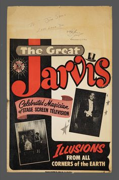 1964 The Great Jarvis Magic Show Poster by VintageInquisitor
