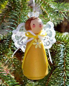 Christmas Angel Ornament Holiday Decor Tree by 2HeartsDesire, $15.00