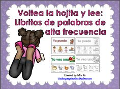 Flip books for Spanish high frequency words