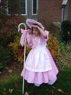 Sheep costume for baby sibling or pet dog?  A Homemade Little Bo Peep Costume