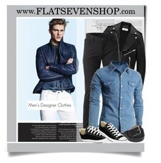 """""""FLATSEVEN 2 - Men's Clothes"""" by monmondefou ❤ liked on Polyvore featuring Yves Saint Laurent and Converse"""