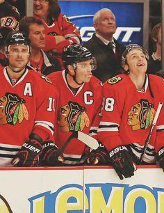 Patrick Sharp, Jonathan Toews, Patrick Kane - Chicago Blackhawks