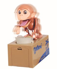 Virtuous Cool Gadgets Monkey Stealing Money Box Coin Bank,Robotic Munching Toys Plastic Piggy Saving Banks Gift for girls & boys or for Kids & Adults (Lucky Coin Monkey ) Kids Gadgets, Cool Gadgets, Money Monkey, Savings Box, Money Box, Gifts For Girls, Piggy Bank, Toy Chest, Toys
