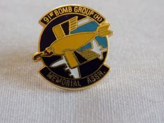 "91st Bomb Group (H) Memorial Assn Pin 11/16"" x 9/16"" Vintage"