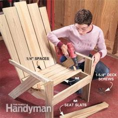 DIY Adirondack chair and love seat
