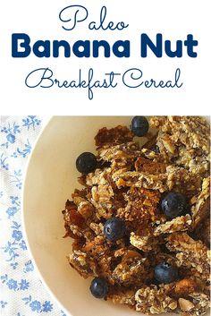 #Paleo Banana Nut Breakfast Cereal is #grainfree #glutenfree and #dairyfree !