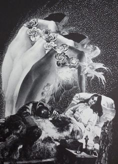 Edgar Allan Poe  Ligeia  Vintage Book Page $24  by ThriftHorseInc