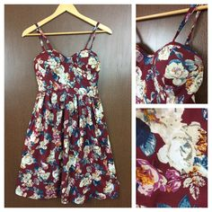 Last few pieces remaining: White Pink - Blue..., visit http://ftfy.bargains/products/white-pink-blue-flowers-on-maroon-printed-spaghetti-dress-with-adjustable-straps-and-padding-on-bust?utm_campaign=social_autopilot&utm_source=pin&utm_medium=pin  #amazing #affordable #fashion #stylish