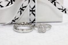 Diamond halo engagement ring with diamond matching wedding band & plain gents ring by Kalfin Jewellery #diamonds #diamondringsmelbourne #custommaderings #weddingband #gentsring #engagementringmelbourne #fashionista #fashionbloggers #picoftheday #beauty #weddingrings #diamondrings #love #gown #dress #groom #colours #gems #pink #blue #couture #luxury www.kalfin.com.au