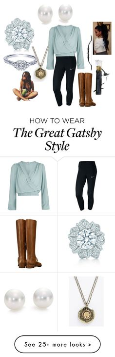 """Roni"" by gilliski on Polyvore featuring NIKE, Love, Tory Burch, Tiffany & Co. and Mikimoto Great Gatsby Fashion, 20s Fashion, The Great Gatsby, Gatsby Style, Tiffany, Tory Burch, Outfit Ideas, Nike, Polyvore"