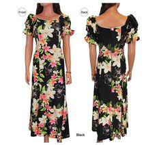 161cb3b29398 Hawaiian Muumuu Dress for Women Muu Muu Black Kona Size s M L XL 2XL New |  eBay