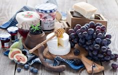 Wallpaper cheese, grapes, bunch, berries, blueberries, blackberries, figs