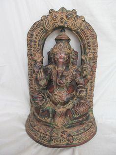 Vintage Look Brass Bronze Hindu Tribal Elephant God Ganesh Statue Figure 1279