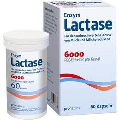 LACTASE 6.000 FCC Kapseln:   Packungsinhalt: 60 St Kapseln PZN: 09545238 Hersteller: Pro Natura Gesellschaft für gesunde Ernährung mbH…