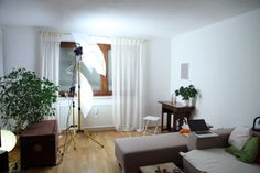photo studio at home :) Photo Studio, Oversized Mirror, Curtains, Furniture, Home Decor, Homemade Home Decor, Home Furnishings, Interior Design, Home Interiors