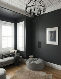 A year-long renovation transformed this traditional Mt Eden, Auckland villa into a contemporary and luxurious bachelor pad Winter Living Room, Living Room Grey, Living Room Decor, Apartment Interior Design, Home Interior, Apartment Layout, Villa, Sico, Living Room Designs