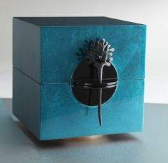 Teal Lacquer Jewelry Box, Desk Accessories, Home Furnishings - The Museum Shop of The Art Institute of Chicago