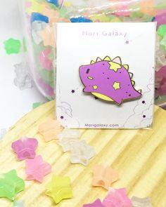 $10. Tiny Dino pins. Enamel pin. Stellasaurus. Ursa Minor constellation. Dinosaur. Product of Mori Galaxy