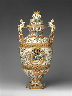 Antonio Patanazzi. Vase with cover, ca. 1580. Italian, Urbino. The Metropolitan Museum of Art, New York. The Friedsam Collection, Bequest of Michael Friedsam, 1931 (32.100.377a, b)