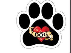 Paw shape car magnet. Dog