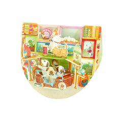 Santoro  Popnrock Pet Shop 3D Card | Santoro London
