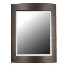 Kenroy Home Folsom Wall Mirror in Brushed Bronze   Wayfair