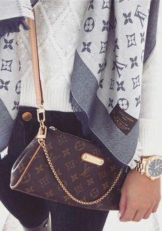 Louis Vuitton purse = ♡ Louis Vuitton cardigan = ♡♡ Louis Vuitton anything = ♡♡♡ . Louis Vuitton - purse - cardigan - anything - brown - caramel - gold - silver - live - love - life - accessories - watch - white - blue - navy - jeans - clothing - e Louis Vuitton Purses, Pochette Louis Vuitton, Louis Vuitton Crossbody Bag, Crossbody Clutch, White Louis Vuitton Bag, Louis Vuitton Alma, Louis Vuitton Neverfull, Lv Handbags, Fashion Handbags