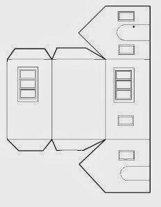 Risultato immagini per free template putz house Cardboard Box Houses, Cardboard Paper, Paper Houses, Paper Toys, Paper Crafts, Diy Home Crafts, Crafts For Kids, Christmas Home, Christmas Crafts