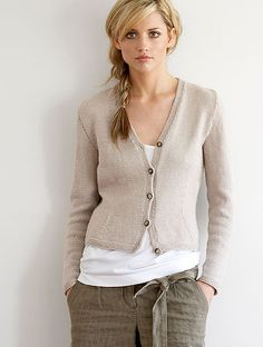 free digital download vee neck cardigan hand knitting pattern. Cotton Vee neck Cardigan. beige Cardigan.