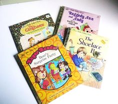 Vintage A Little Golden Books Set of Four 1970-80s by JollieSweets