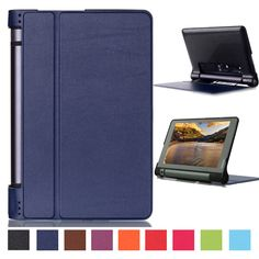 For Lenovo Yoga Tab 3 10.1 X50F X50M X50L Tablet Case Protective PU Leather Stand Flip Cover Magnetic Cases + Screen Protector