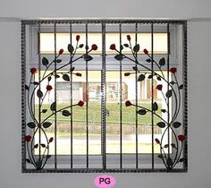 Window Grill Design for The Stylish Look and Safety - Decoration . Window Grill Design for The Sty Home Window Grill Design, Iron Window Grill, Window Grill Design Modern, House Window Design, Grill Door Design, Balcony Design, Gate Design, Steel Grill Design, Window Security Bars
