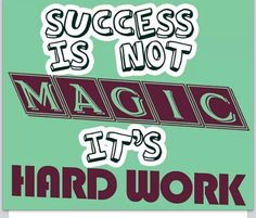Hard work, not magic Hard Work Quotes, Work Hard, Motivational Quotes, Inspirational Quotes, Motivate Yourself, Health Fitness, Success, Wisdom, Activities