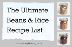 If you are looking for a frugal solution for a tight dinner budget, beans and rice can solve the problem every time. Check out this list of beans and/or rice recipes. (Linky party)