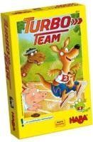 Haba Turbo Team by HABA. $14.24. All animal teams want to win the legendary Turbo Team Tournament. Whoever shows some bravery when rolling the dice will bring his team first pass the target line and win the magnificent Turbo Team trophy!