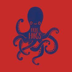 Octopus free hugs by nemimakeit