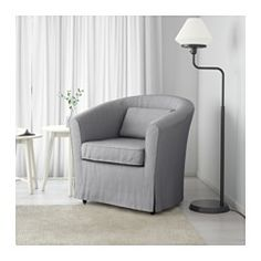 IKEA - TULLSTA, Chair, Nordvalla medium gray, , Slim lines, easy to place.A range of coordinated covers makes it easy for you to give your furniture a new look.The cover is easy to keep clean as it is removable and can be machine washed.
