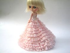 DESYSHOP Blythe peach wedding dress