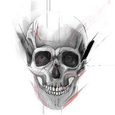 "664 Likes, 9 Comments - Aleksandra Sepman (@sepman.sasha) on Instagram: ""#art #artwork #artist #skull #design #drawing #illustration"""