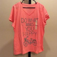 NWT 100% cotton v-neck tee Short sleeved. Color: salmon rose.  bvonfrxs Sonoma Tops Tees - Short Sleeve