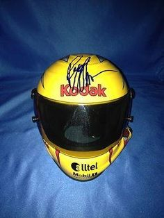 RYAN NEWMAN signed KODAK mini helmet with COA - Autographed NASCAR Helmets * Click image to review more details.