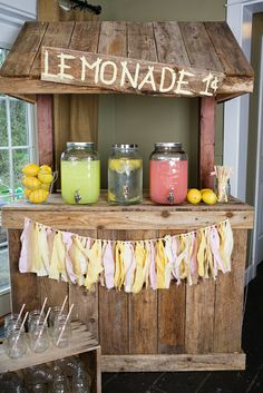 Lemonade Stand Birthday Party Ideas | Photo 1 of 31 | Catch My Party