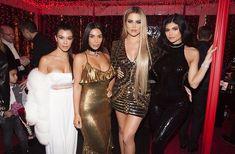 Kim, Kourtney, Khoe & Kylie at the Kardashian/Jenner Christmas Eve Party - December 24, 2016