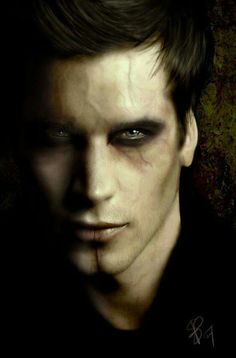 A guy vampire, brooding. Is he scary enough for a vampire? Male Vampire, Vampire Love, Vampire Art, Vampire Makeup For Men, Zombie Vampire, Vampire Hunter, Story Inspiration, Character Inspiration, Makeup Inspiration