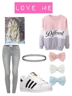 """""""Untitled #22"""" by cuchiplasti on Polyvore featuring beauty, Paige Denim, Decree and adidas"""