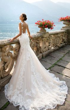 Featured Dress: MillaNova; Wedding dress idea.