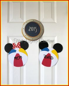 Mickey Or Minnie Beach Ball Personalized Magnet For Cruise Door