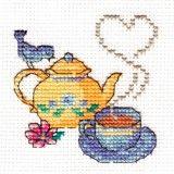 A Cuppa Tea Mini Counted Cross Stitch Kit