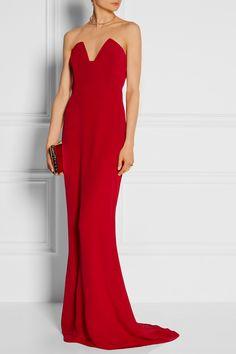 Old H-wood glam. (Cushnie et Ochs|Strapless silk gown)