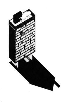 Bruna Canepa | Fantastic Architecture: Illustrations